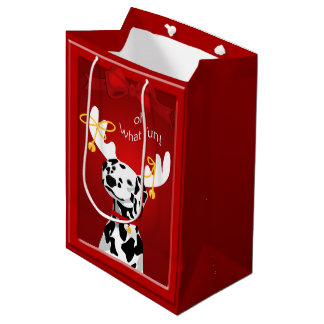 Dalmatian Deer Dog Fun MGB Medium Gift Bag