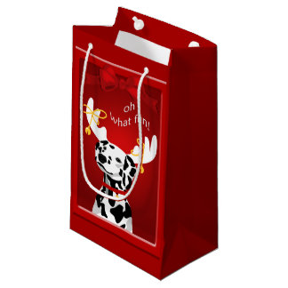 Dalmatian Deer Dog Fun SGB Small Gift Bag