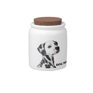 Dalmatian dog beautiful photo, dog treats jar candy dishes