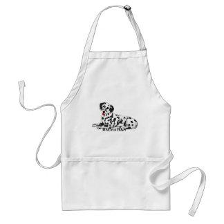 Dalmatian Dog Cartoon Aprons
