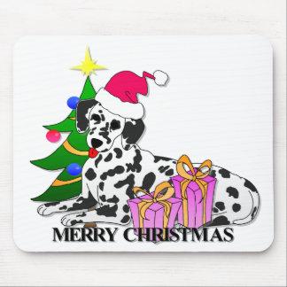 Dalmatian Dog Christmas Mouse Mats