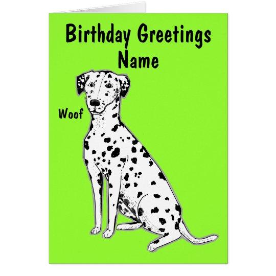 Dalmatian Dog Customisable Birthday Card