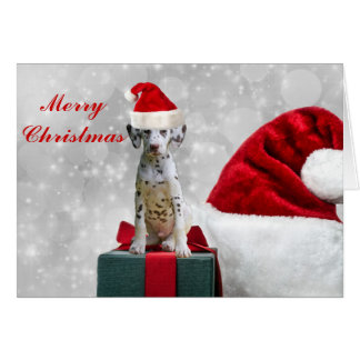 Dalmatian dog cute puppy custom holiday christmas card