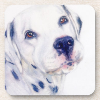 Dalmatian dog drink coaster