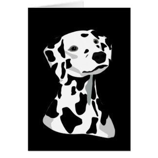 Dalmatian Dog Greeting Card Black