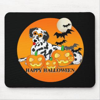 Dalmatian Dog Halloween Mouse Pads