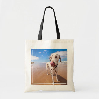 Dalmatian Dog On Beach Tote Bag
