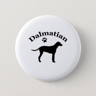 Dalmatian dog pawprint silhouette button, gift 6 cm round badge