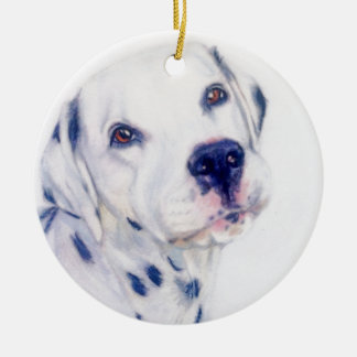 Dalmatian dog round ceramic decoration