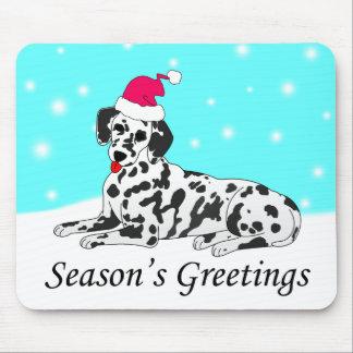 Dalmatian Dog Santa Mouse Mat