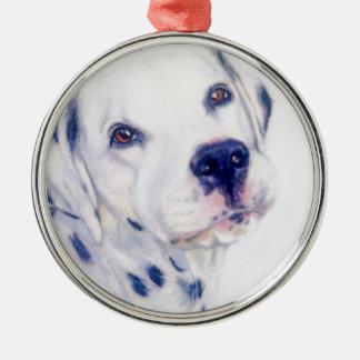 Dalmatian dog Silver-Colored round decoration