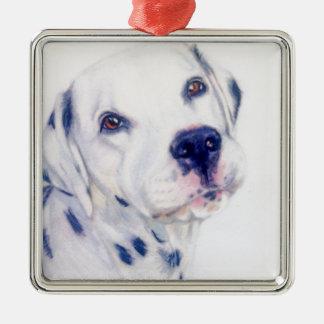 Dalmatian dog Silver-Colored square decoration