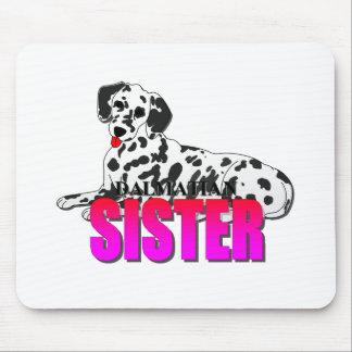 Dalmatian Dog Sister Mousepad