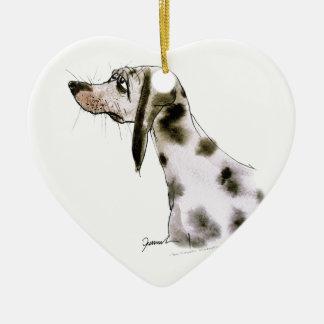 dalmatian dog, tony fernandes ceramic heart decoration