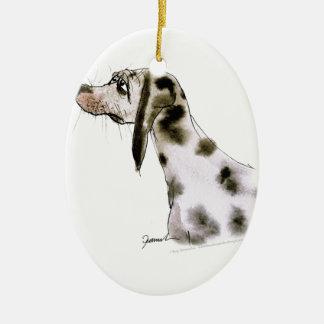 dalmatian dog, tony fernandes ceramic oval decoration