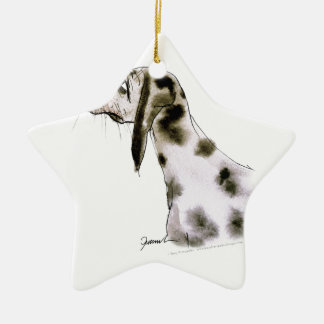 dalmatian dog, tony fernandes ceramic star decoration