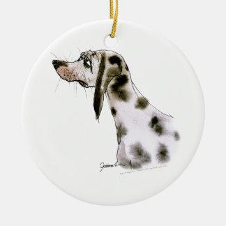 dalmatian dog, tony fernandes round ceramic decoration