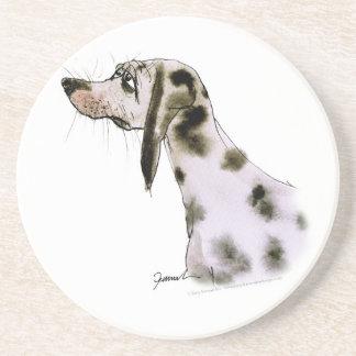 dalmatian dog, tony fernandes sandstone coaster