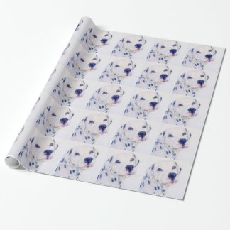 Dalmatian dog wrapping paper