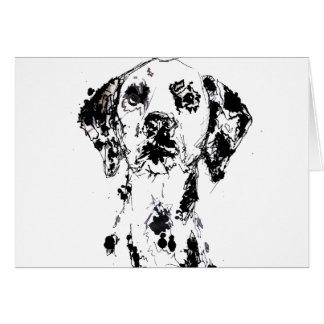 Dalmatian Doodle Card
