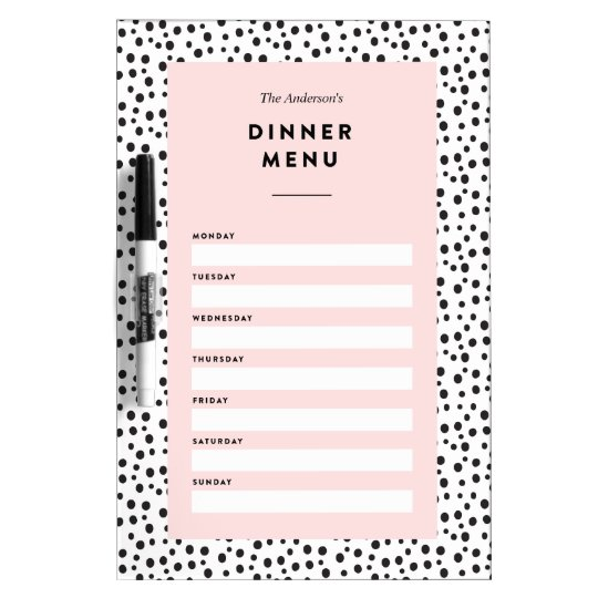 Dalmatian Dots | Dinner Menu Dry Erase Board