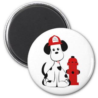 Dalmatian Fire Dog 6 Cm Round Magnet
