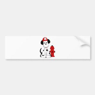 Dalmatian Fire Dog Bumper Sticker