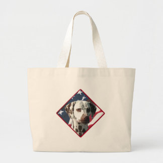 Dalmatian Flag 2 Large Tote Bag