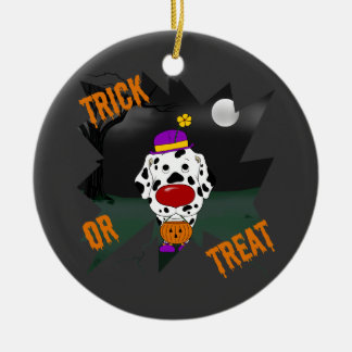 Dalmatian Halloween Clown Christmas Ornament