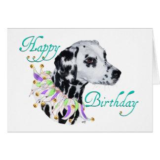 Dalmatian Happy Birthday Card