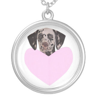 Dalmatian Heart Valentine's Day Necklace