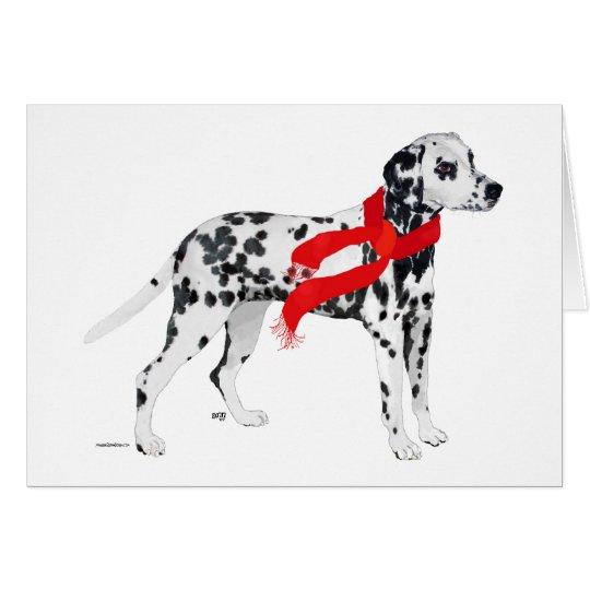 Dalmatian in a Red Scarf Card