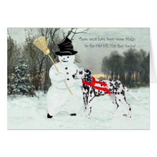 Dalmatian in Winter Snow Card