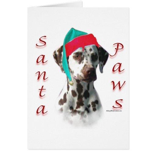 Dalmatian (liver) Santa Paws Cards