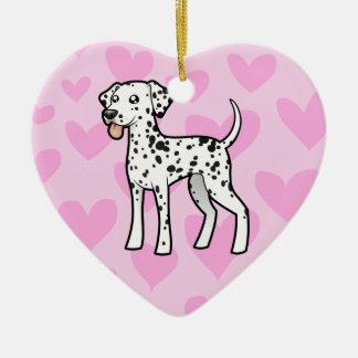 Dalmatian Love Ceramic Heart Decoration