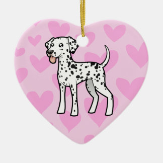 Dalmatian Love Christmas Ornament