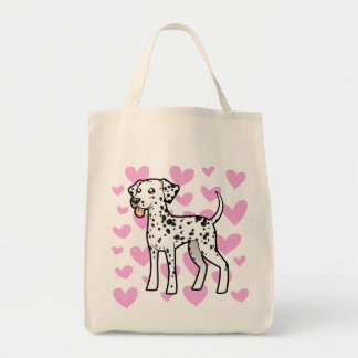 Dalmatian Love Tote Bag