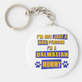Dalmatian Mommy Basic Round Button Key Ring