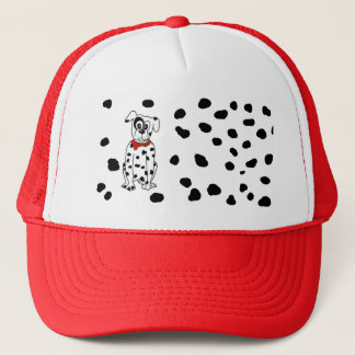 Dalmatian mummy trucker hat