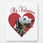 Dalmatian My Valentine Mouse Mat