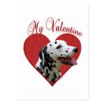 Dalmatian My Valentine Postcard