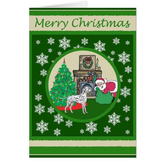 Dalmatian Old Fashioned Christmas Card