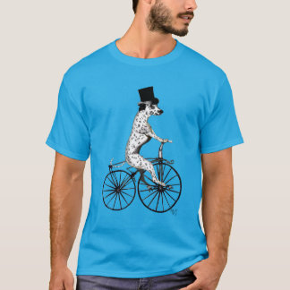 Dalmatian on Bicycle 2 T-Shirt