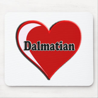 Dalmatian on Heart for dog lovers Mouse Pad