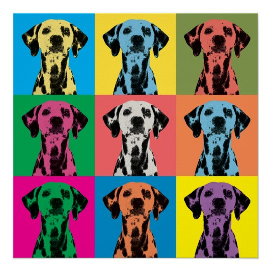 Dalmatian Pop-Art Canvas Print