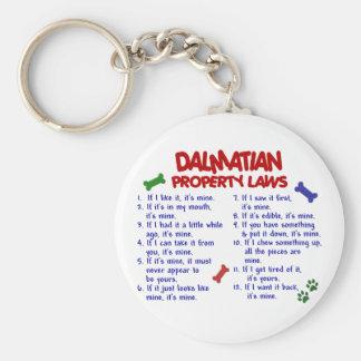 DALMATIAN Property Laws 2 Basic Round Button Key Ring