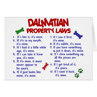 DALMATIAN Property Laws 2 Card