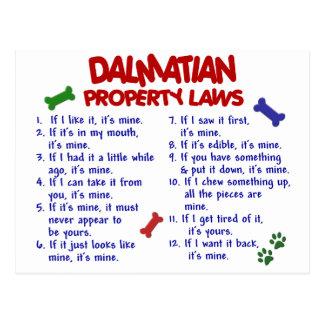 DALMATIAN Property Laws 2 Postcard