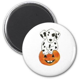 Dalmatian Pumpkin 6 Cm Round Magnet