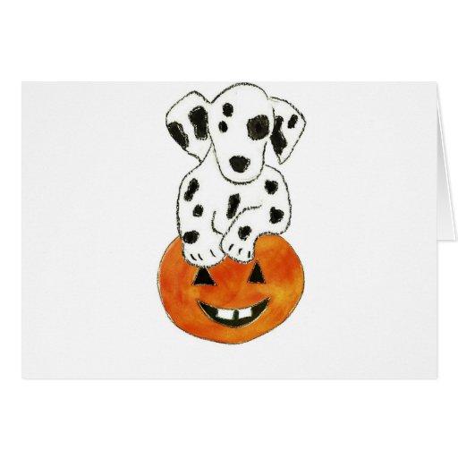 Dalmatian Pumpkin Cards